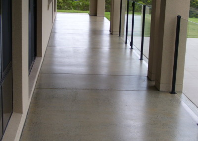 320 m2 of existing undercover concrete - 30, 60, 100 grit grinds - 3 x coats solvent acrylic  (1)