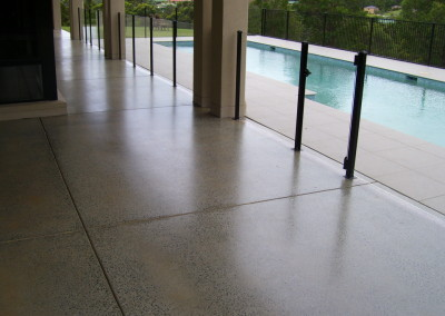 320 m2 of existing undercover concrete - 30, 60, 100 grit grinds - 3 x coats solvent acrylic  (2)