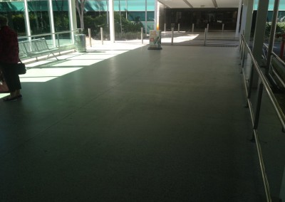 Honed Concrete Walkway - Brisbane International Airport. -Solvent Acylic Top Coat (6)