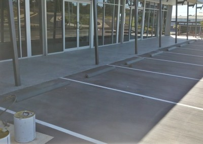 Honed Concrete shop front walkway