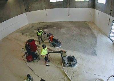 Floor grinding - 30 grit remove coatings and 80 grit to smooth