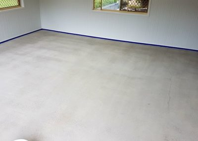 Garage Flake Floor - Preparatioon Complete