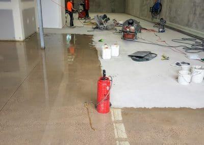 concrete hardening